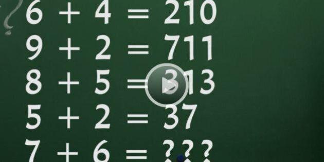 7+6? Il rompicapo che vi permette di scoprire se avete un QI di 150: un indovinello che sta facendo impazzire...