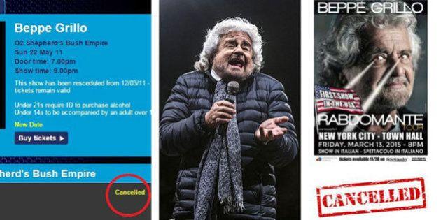 Beppe Grillo cancella il Rabdomante Tour: niente più spettacoli per il mondo, il leader M5s scenderà...