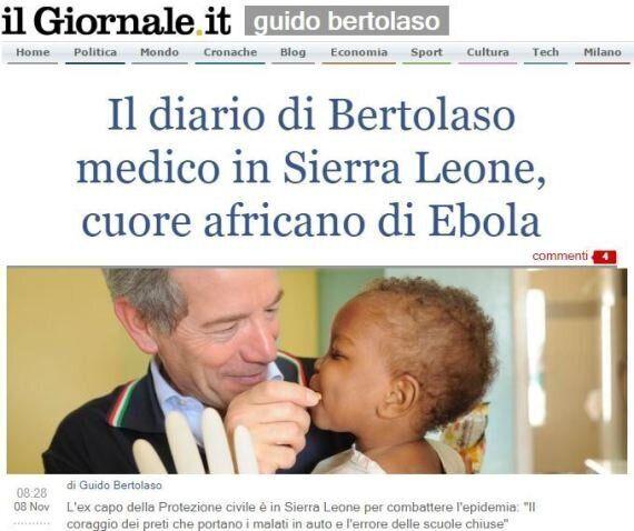 Guido Bertolaso riparte dall'ebola. L'ex capo della Protezione Civile racconta la sua missione in Sierra
