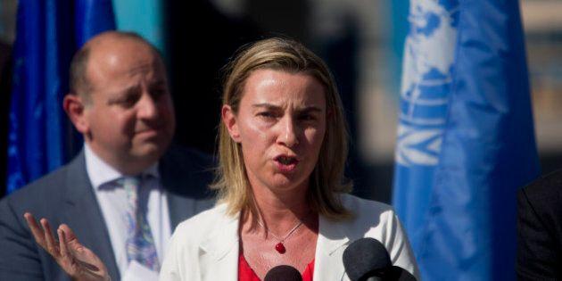 Federica Mogherini a Gaza: