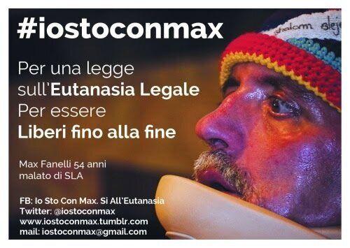 #IoStoConMax per l'Eutanasia