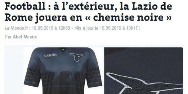 Le Monde contro la maglia della Lazio: