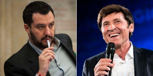 Matteo Salvini Vs Gianni Morandi sugli immigrati: