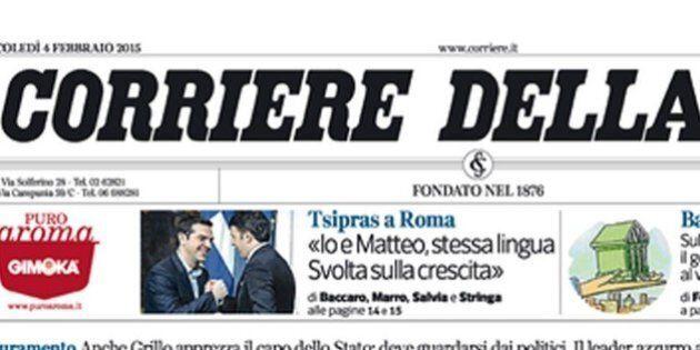 Direttore Corriere della Sera, in corsa 3-4 candidati per il dopo De Bortoli. Il Cdr chiede che non sia...