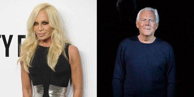 Donatella Versace vs Giorgio Armani: