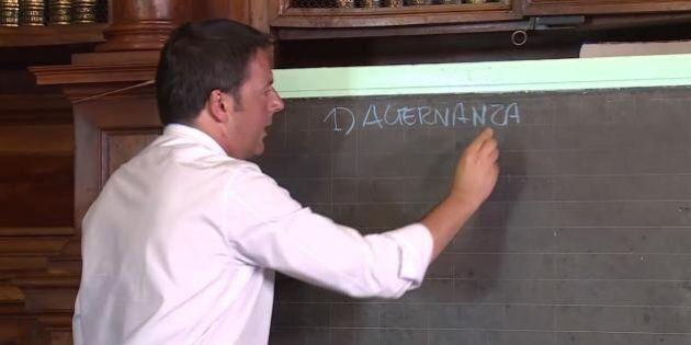 Scuola, Matteo Renzi: