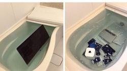 Il fidanzato la tradisce, lei getta tutti i suoi prodotti Apple nell'acqua. La vendetta della ragazza giapponese