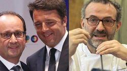 Renzi e Hollande si trattano bene: a cena dallo chef Massimo
