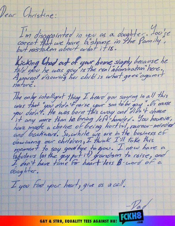 L'emozionante lettera di sostegno di un nonno al nipote gay
