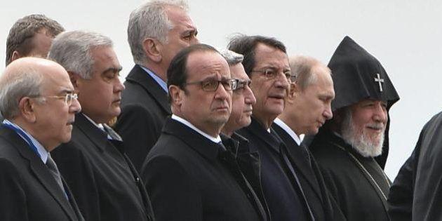 Genocidio armeno, commemorazione del centenario a Erevan. Tanti capi di Stato, assente governo italiano