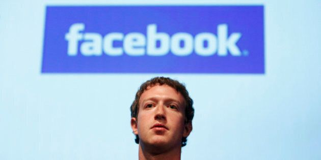 FILE - In this Oct. 13, 2010 file photo, Facebook founder Mark Zuckerberg speaks in the Galileo Auditorium...