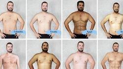 Il corpo dell'uomo ideale in 19 Paesi