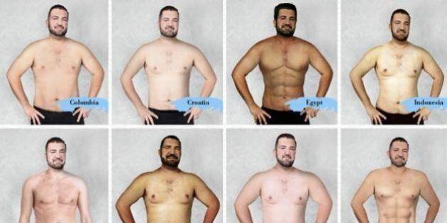 Il corpo dell'uomo ideale in 19 Paesi diversi