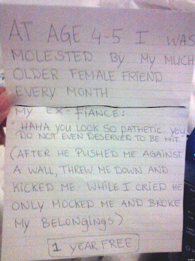 Le frasi degli stupratori: