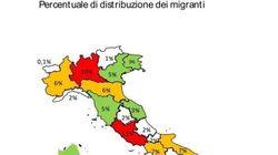59mila migranti sbarcati nel 2015, ospitati specialmente in Sicilia, Lazio e