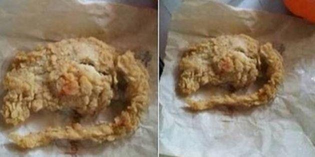 Invece che un'aletta di pollo KFC, un topo fritto. La clamorosa scoperta in un video su Facebook (FOTO,