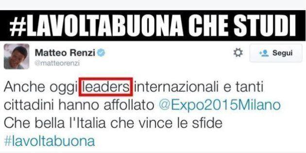 Altra gaffe di Matteo Renzi sull'inglese. L'ironia su twitter: