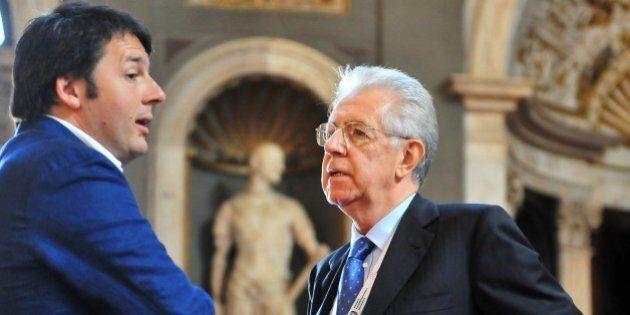 Matteo Renzi contro Mario Monti: adesso la rottamazione tocca ai