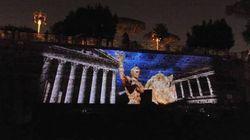 I giochi di luce e le animazioni che fanno tornare il Foro di Cesare in vita per
