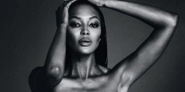 Naomi Campbell posta una foto in topless su Instagram e viene censurata