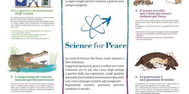 Science for Peace 2014, la Carta per la Scuola per insegnare ai bambini la cultura della non violenza