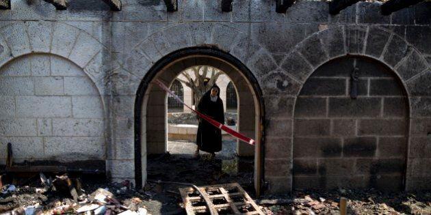 Israele, bruciata la chiesa del