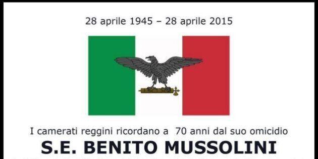 Messa (poi sospesa) per Benito Mussolini a Reggio Calabria