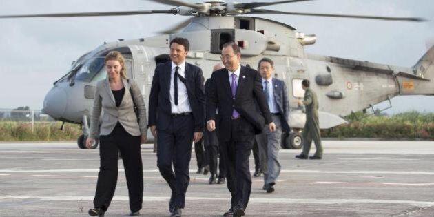 Migranti, il segretario Onu Ban Ki-moon non sposa la linea di Matteo Renzi sui trafficanti: