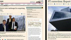 Il Financial Times pubblica una notizia sbagliata sulla Bce, poi chiede scusa per