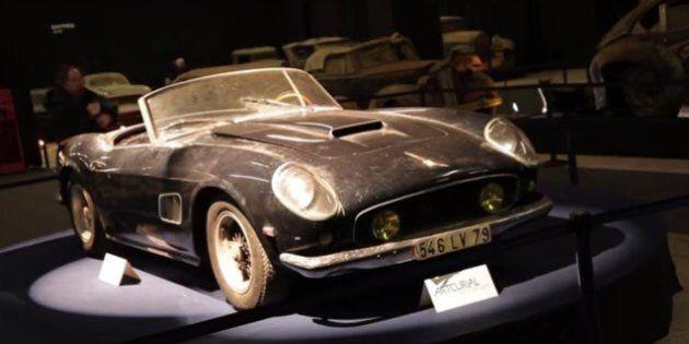 La Ferrari di Alain Delon ritrovata in campagna per caso: venduta all'asta per 16 milioni di euro