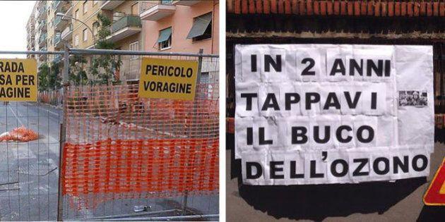 Ignazio Marino contestato: tensione in via Genzano per la riapertura della strada. Due blindati della...