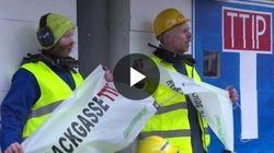 In azione a Bruxelles per dire Stop TTIP, è un vicolo cieco per