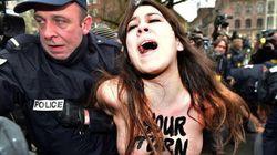 Blitz delle Femen al processo Strauss-Kahn