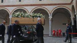 Benigni al funerale di Umberto Eco: