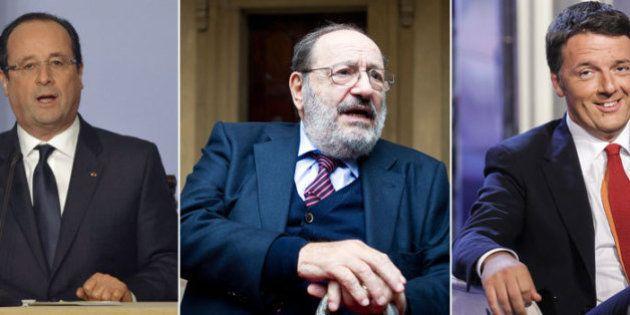 Immigrazione. Matteo Renzi invita Umberto Eco al pranzo con Hollande all'Expo: urge l'approfondimento
