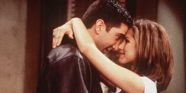 1996 DAVID SCHWIMMER AND JENNIFER ANISTON OF THE TV HIT SERIES