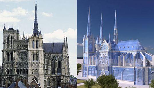 Come sarebbe Notre Dame de Paris se fosse stata costruita nel XXI secolo?