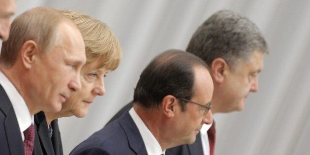 Vertice Minsk: due ore di confronto, attesa per una dichiarazione congiunta fra Putin, Poroshenko, Merkel...