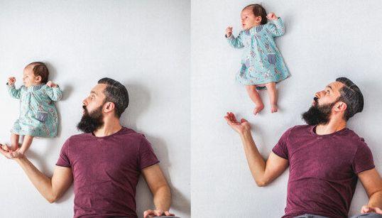 Le foto di questo neonato non sono ritoccate con