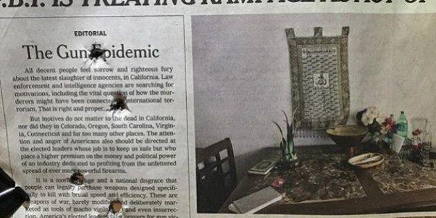 La provocazione del blogger pro-armi: pubblica foto del New York Times bucato dai