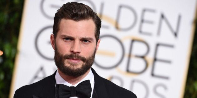 Jamie Dornan arrives at the 72nd annual Golden Globe Awards at the Beverly Hilton Hotel on Sunday, Jan....