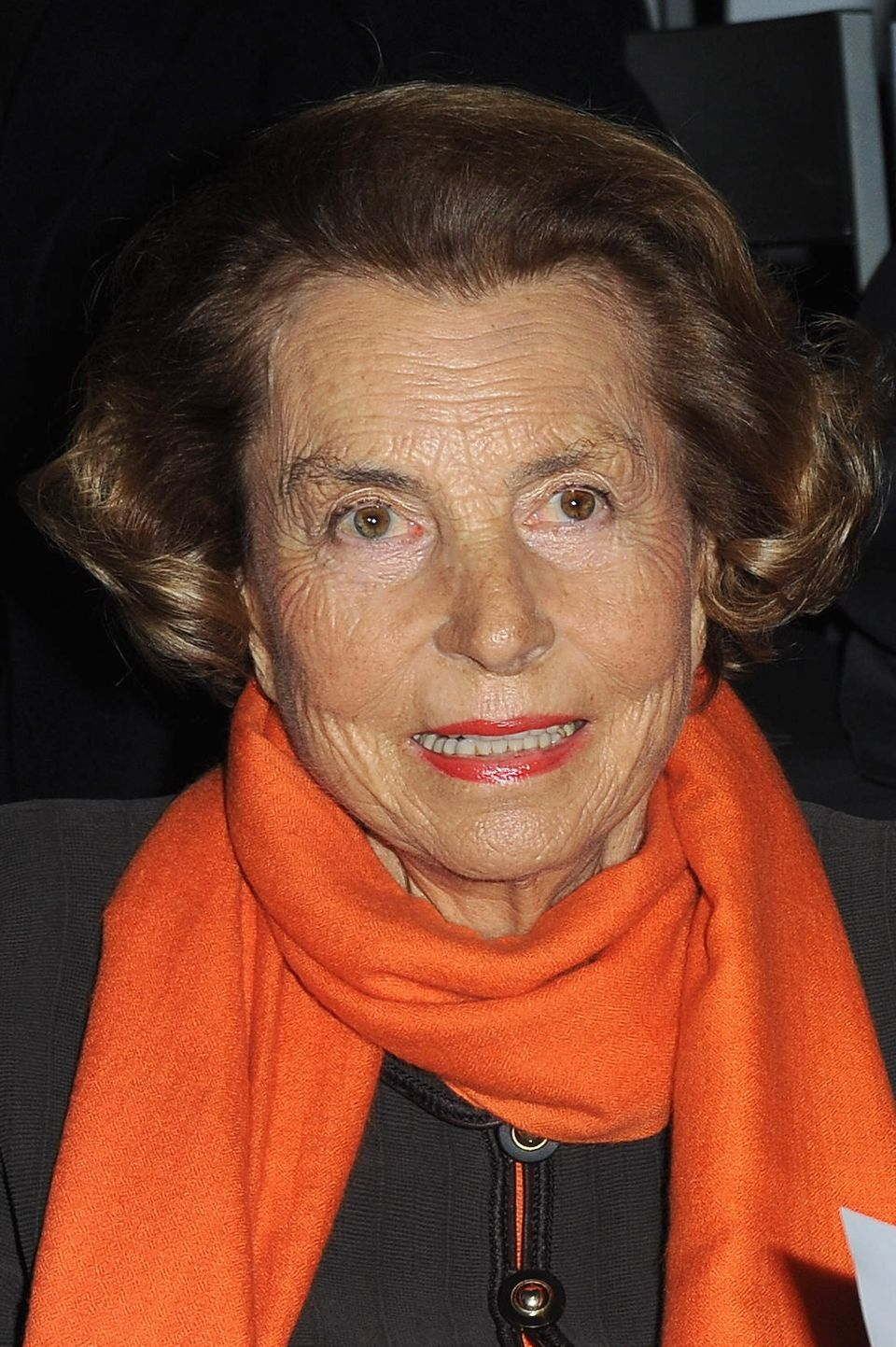 Liliane Bettencourt attends the Giorgio Armani Prive Haute-Couture Spring / Summer 2012 show as part of Paris Fashion Week at
