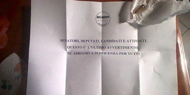Proiettile ad Alessandro Di Battista e ai parlamentari M5s:
