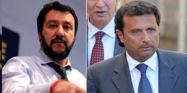 Matteo Salvini contro Francesco Schettino su twitter: