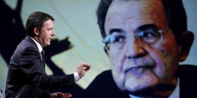 Matteo Renzi, Romano Prodi: a Venezia stretta di mano tra i due:
