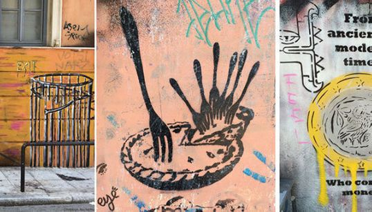 La Grecia in crisi raccontata dai suoi graffiti