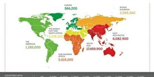 36 milioni di uomini, donne e bambini vivono nel 2014 in condizione di