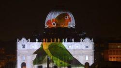 Fiat Lux, l'Arca di Noè proiettata su San Pietro per il