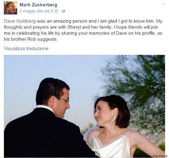 Dave Goldberg morto, la moglie Sheryl Sandberg scrive una lettera d'addio su Facebook: