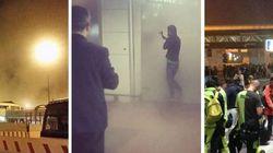 Muro di fumo e fiamme, a fuoco l'aeroporto di